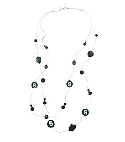 accessory PLAYS™ NCAA® Michigan State Spartans Two Row Illusion Shell Stations Necklace