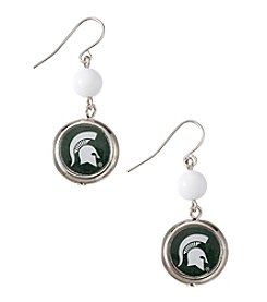 accessory PLAYS™ NCAA® Michigan State University Disc Drop Earrings