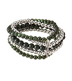 accessory PLAYS™ NCAA® Michigan State Spartans Five Row Stretch Bracelet