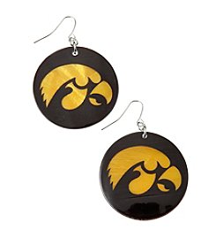 accessory PLAYS™ NCAA University Of Iowa Round Shell Drop Earrings
