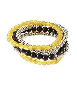accessory PLAYS™ NCAA University Of Iowa Five Row Stretch Bracelet
