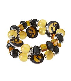accessory PLAYS™ NCAA University Of Iowa Two Row Stretch Logo Bracelet