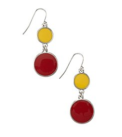 accessory PLAYS™ NCAA Iowa State University Two-Disc Drop Earrings