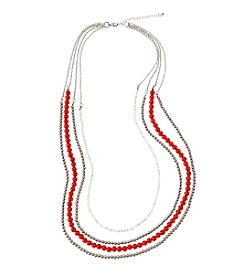 accessory PLAYS™ NCAA University Of Nebraska Four Row Bead Chain Necklace