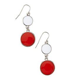 accessory PLAYS™ NCAA University Of Nebraska Two Disc Drop Earrings