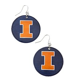 accessory PLAYS™ NCAA University Of Illinois Round Shell Drop Earrings