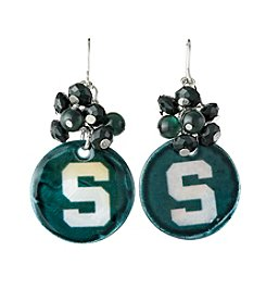 accessory PLAYS™ NCAA® Michigan State Spartans Shell Cluster Earrings