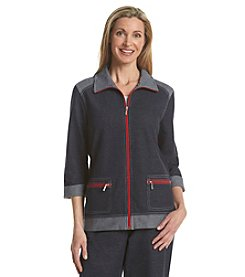 Breckenridge® Petites' Heather Roll Sleeve Jacket