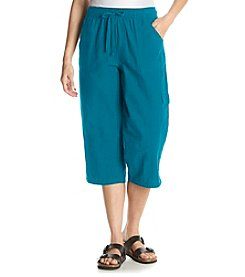 Breckenridge® Petites' Solid Color Cargo Sheeting Capri
