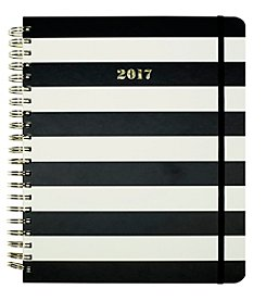kate spade new york® Striped Jumbo Spiral Agenda