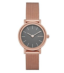 Skagen Denmark Women's Hald Rose Goldtone Mesh Bracelet Watch