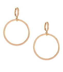 Vince Camuto™ Rose Goldtone Metal Circle Drop Huggie Earrings