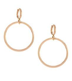 Vince Camuto™ Rose Goldtone Metal Circle Drop Huggie Earrings