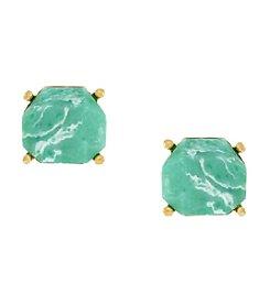 Vince Camuto™ Goldtone Faceted Gem Stud Earrings