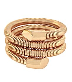 Vince Camuto™ Rose Goldtone Three Row Metal Coil Bracelet