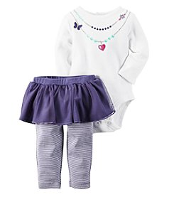 Carter's® Baby Girls' 2-Piece Necklace Bodysuit And Tutu Leggings Set