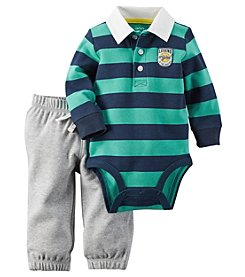 Carter's® Baby Boys 2-Piece Striped Bodysuit And Pants Set