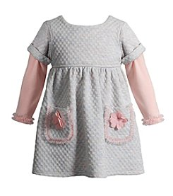 Sweet Heart Rose® Baby Girls' Long Sleeve Quilted Dress