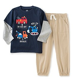 Kids Headquarters® Baby Boys 2-Piece Trucks Layered Tee And Pants Set