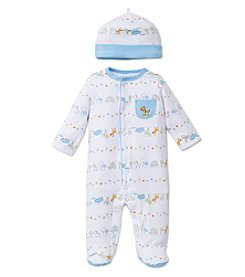 Little Me® Baby Boys Fun Safari Footie And Hat Set