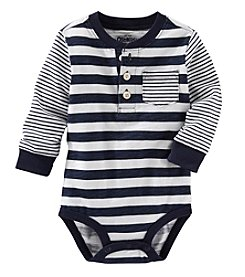 OshKosh B'Gosh® Baby Boys Striped Henley Bodysuit
