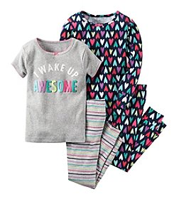 Carter's® Girls' 12M-12 4-Piece I Wake Up Awesome Pajama Set