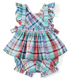 Ralph Lauren® Baby Girls' Plaid Shorts Set