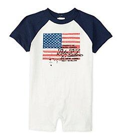 Ralph Lauren Childrenswear Baby Boys Flag One Piece Shortall