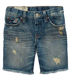 Polo Ralph Lauren® Boys' 2T-7 Distressed Denim Shorts