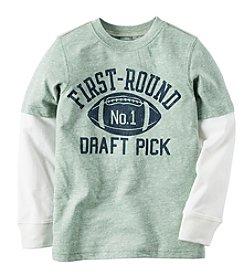 Carter's® Boys' 4-7 Long Sleeve Layered Draft Pick Tee