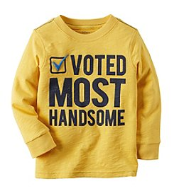 Carter's® Boys' 12M-8 Long Sleeve Voted Most Handsome Tee