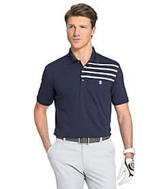 Izod® Men's Engineered Stripe Short Sleeve Golf Polo