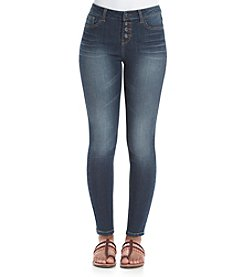 Hippie Laundry Exposed Button Skinny Jeans