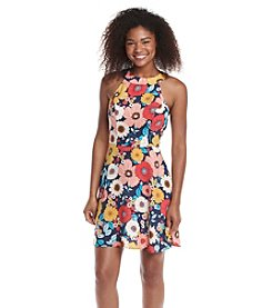 Be Bop 70's Floral Print Swing Dress