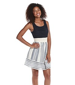 Trixxi® Crochet Tank Dress With Striped Skirt