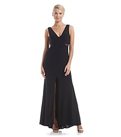 Xscape Mesh Cutout Gown