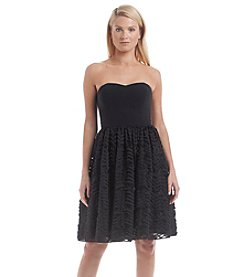 Calvin Klein Strapless Lace Dress