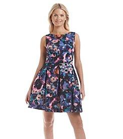 Taylor Dresses Floral Scuba Dress