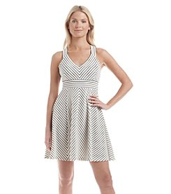 Adrianna Papell® Striped Fit and Flare Dress