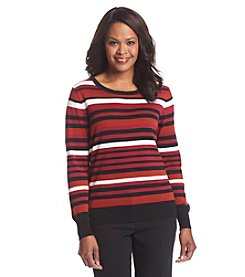 Studio Works® Striped Crew Neck Sweater
