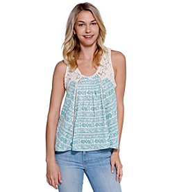 Skylar & Jade™ Lace Printed Swing Top