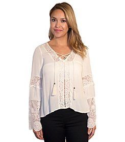 Skylar & Jade™ Lace Peasant Top