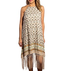Skylar & Jade™ Handkerchief Hem Fringe Dress
