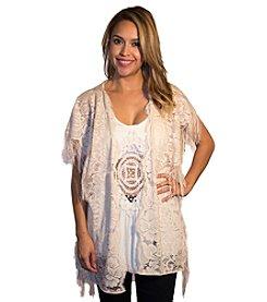 Skylar & Jade™ Lace Fringe Kimono