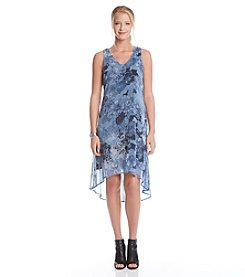 Karen Kane® Floral V-Neck High-Low Dress