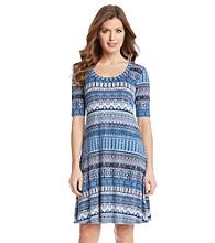 Karen Kane® Mosaic Stripe T-Shirt Dress