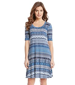 Karen Kane® Mosaic Stripe T-Shirt Dress