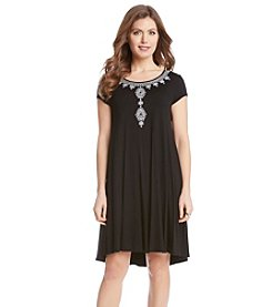 Karen Kane® Embroidered Maggie Trapeze Dress