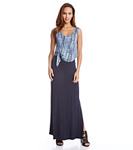 Karen Kane® Tie Top Maxi Dress