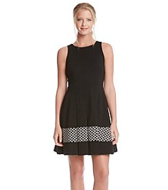 Karen Kane® Contrast Panel Flare Dress